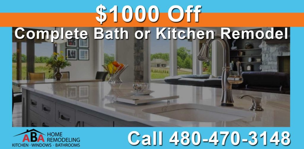 $1000 Off Complete Bath or Kitchen Remodel